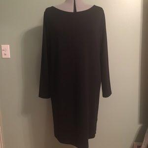 Simple black knit dress
